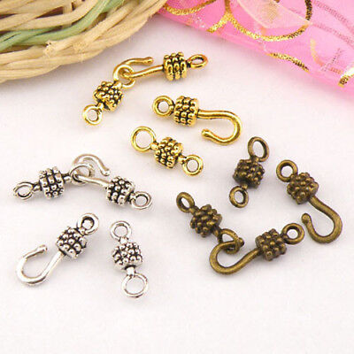 6Sets Tibetan Silver,Antiqued Gold,Bronze Hooks Connectors Toggle Clasps M1417