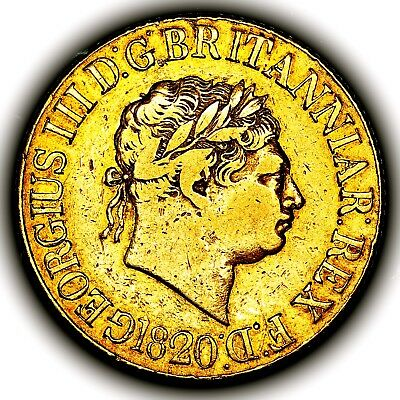 1820 King George III Great Britain London Mint Gold Sovereign