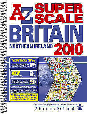(Good)-Great Britain Super Scale Road Atlas (A-Z Road Atlas) (Spiral-bound)-Geog