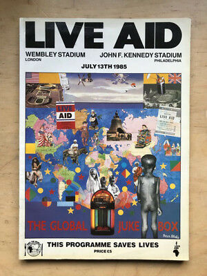 LIVE AID JULY 13TH 1985 PROGRAMME BOOK Original thick 162 page book style progra