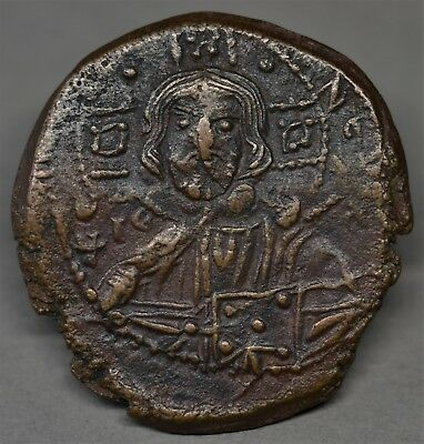 Beautiful Byzantine Anonymous Bronze Follis, Time Of Romanus Iii, Ad 1028-1034.