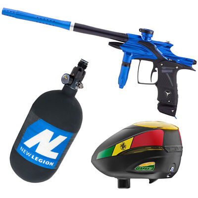 Dangerous Power Fusion Elite blue/black Paintball Set + Dye R2 Rasta + HP System