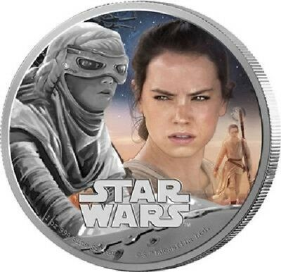 Niue 2 Dollar 2016 Star Wars Force Awakens 3 Rey 1
