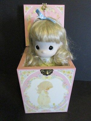 1989 Enesco Precious Moments Four Seasons Musical Jack In Box Doll-Summer-New