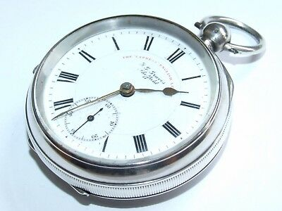 Beautiful, Antique 1903 Edwardian Solid Silver J.G. Graves Gents Pocket Watch!
