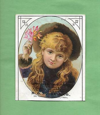 Lovely GIRL On N. O. STONE SHOE CO. In TOLEDO, OH Victorian Trade Card