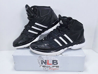new product 2ccd1 51010 Adidas Stupidly Light Basketball Shoes Mens Size 7.5 BlackWhite