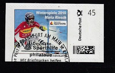 D. Briefmarke Individuell   Oly 2010  Maria Riesch  oo