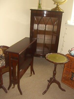 What A Bargain Lovely Mahogany Display Cabinet/ Sutherland Table/ Wine Table