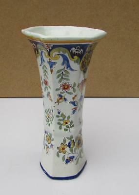 ANTIQUE FRENCH FAIENCE VASE DESVRES FOURMAINTRAUX-COURQUIN Circa 1890