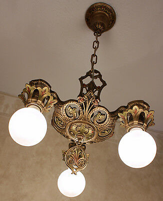 ANTIQUE ART DECO Chandelier Light Fixture Canopy Ceiling Cap ...