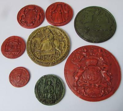 8 Rare Historic Terracotta Great Seals : Queen Anne , Great Seal , Henry etc.