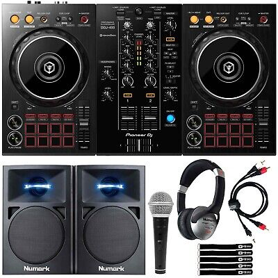 Pioneer DDJ-400 Rekordbox DJ Controller+Monitors + Headphones DJ Starter Package