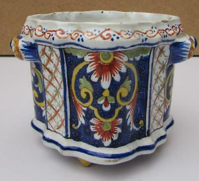 ANTIQUE FRENCH FAIENCE POT DESVRES FOURMAINTRAUX-COURQUIN Circa 1890