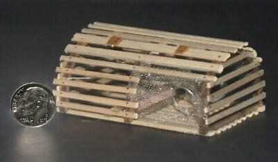 LOBSTER TRAP (New England style) Artisan Dollhouse Miniature 1:12 scale