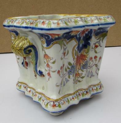 ANTIQUE FRENCH FAIENCE POT DESVRES FOURMAINTRAUX FRERES Circa 1900