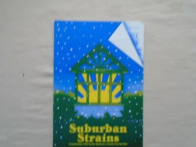 The Round House theatre programme Suburban Strains - approx 1980