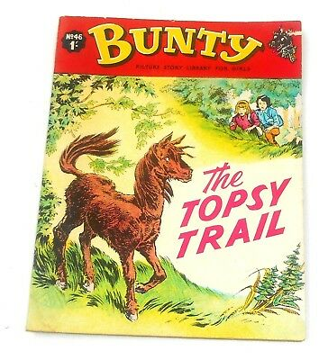 #46 Bunty Picture Library Comics - THE TOPSY TRAIL - 1967