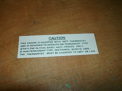 1967 1968 1969 Chevrolet Corvette Camaro Chevelle Cooling System Eng Cpt Decal