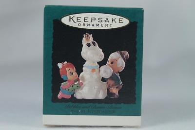 Hallmark '1995 Pebbles and Bamm-Bamm' Flintstones Miniature Ornament New In Box