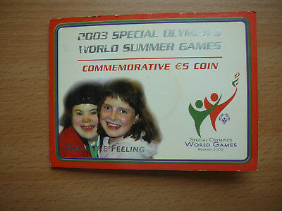 5  euro  - Irland -  2003  Special  Olympic  Summer  Games  -  Blister