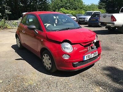2012 Fiat 500 Pop Red Spares Or Repair Light Damaged Salvage