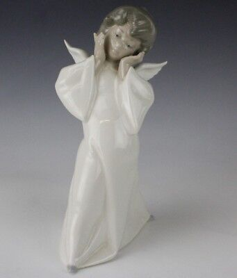 Retired LLADRO Spain Cherub Angel Wings Puzzled 4959 Porcelain Figurine NR BMF