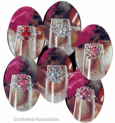 Spider Toe Ring On Stretch Illusion Band Your Choice In Color Of Crystals
