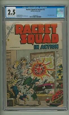 Racket Squad in Action 12 (CGC 2.5) C-O/W pages; Ditko; Charlton; 1954 (c#20068)