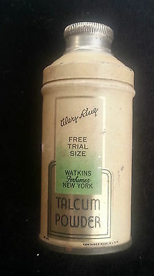 Old Advertising Tin Mary King Talcum Powder Watkins Perfumer NY Sample Size