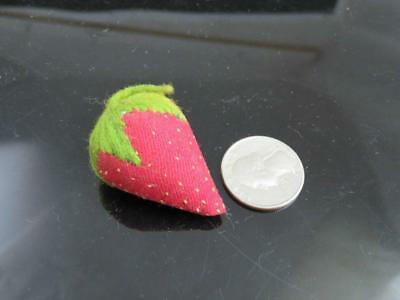 Antique Early Petite Miniature Seeded Strawberry Emery Pin Cushion