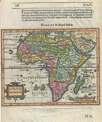 1625 Hondius Map of Africa