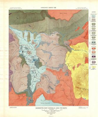 1904 USGS Geologic Map of Mammoth Springs, Yellowstone National Park