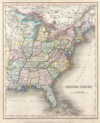 1843 Gilbert Map of the United States