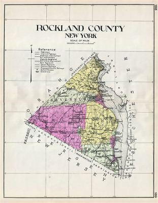 1912 Century Map of Rockland County, New York