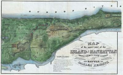1868 Rogers Map of Manhattan, New York City (North of 86th Street)