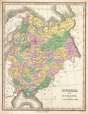 1827 Finley Map of Russia