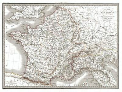 1831 Lapie Map of France in Antiquity (Gaul)