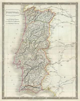 1835 Hall Map of Portugal