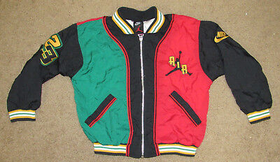 Rare Vtg Nike Air Jordan 23 Windbreaker Warm Up Jacket Kids sz L 7