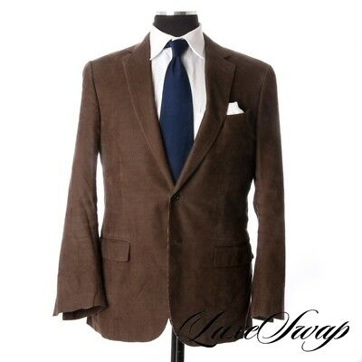 Ermenegildo Zegna Black Label Milano Greened Brown Pincord Corduroy Jacket 50 NR