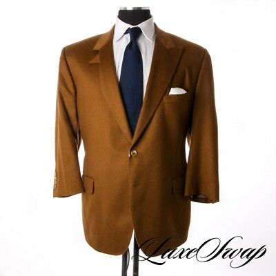 Royal Classic Tom James 2014 Custom 100% Cashmere Caramel Vicuna Brown Jacket NR