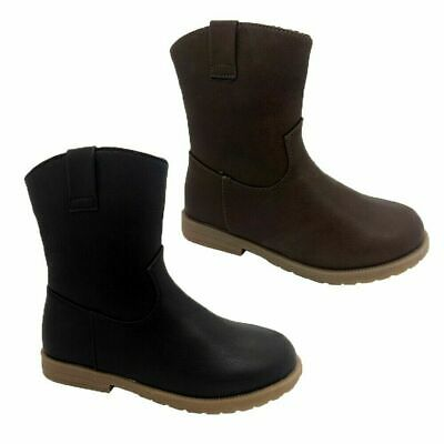 Girls Boots Grosby Jess Low Boot Cute Black or Brown Zip up Side New Size 10-4