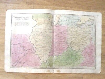 1835 Western United States map-Roswell Smith-W Marshall-IL/IN/OH/KY/MO/VA