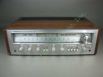 Vtg 1970s Pioneer Model SX-750 Silver Face AM/FM Stereo Receiver WORKS W/ Phono!