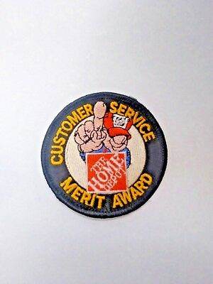 Home Depot LMH Patch Badge CUSTOMER SERVICE MERIT AWARD