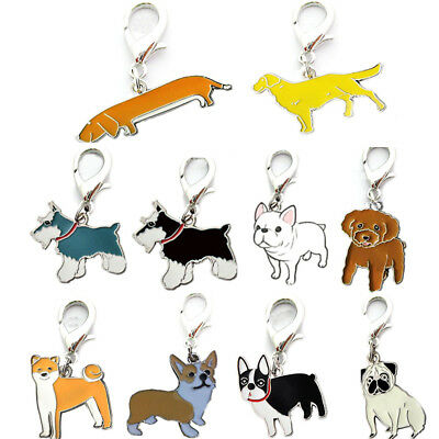 Cute Enamel Accessories Collar Necklace Pendant Metal Dog Tag Disc Disk Pet ID