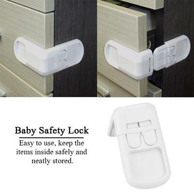 5PCS adhesive Cabinet Drawer Cupboard Locks for Baby Kids Safety Child Proofing