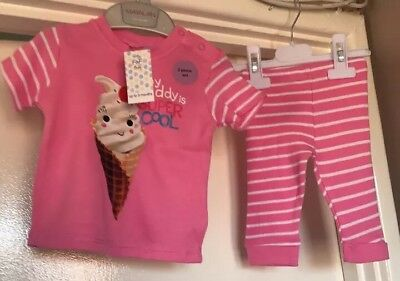 BNWT F&F Baby Girls 2 Piece Outfit. Age Up To 3 Months