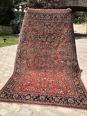 Auth: 1940's Semi Antique Persian Sarouk  - 6x9  Dusty Rose Solid Wool Beauty NR
